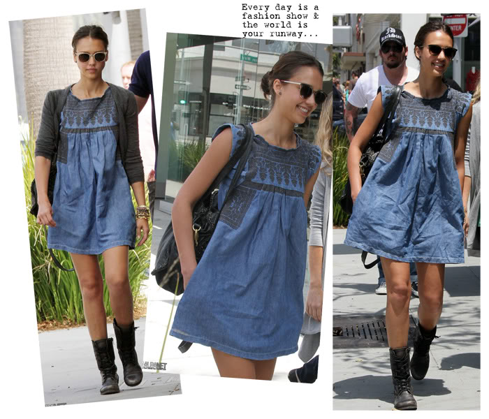 Celebrity style leal embroidered denim tank dress au12 for sale