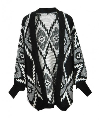 Geometric Cardigan with Open Front - Cardigans - Knitwear - Clothing
