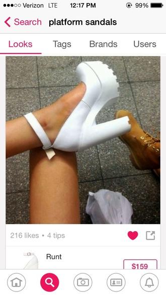 shoes white platform