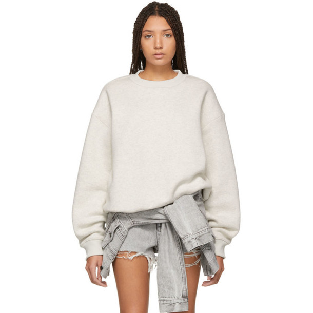 alexanderwang.t Grey Dense Fleece Sweatshirt