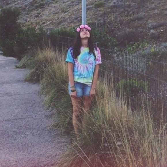 tie dye t-shirt lauren cimorelli