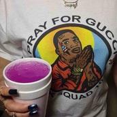 shirt,gucci mane,rapper,white t-shirt,graphic tee,t-shirt,pray for gucci,trap,lean,free gucci,cute,good,ghetto,dope,drugs,girl