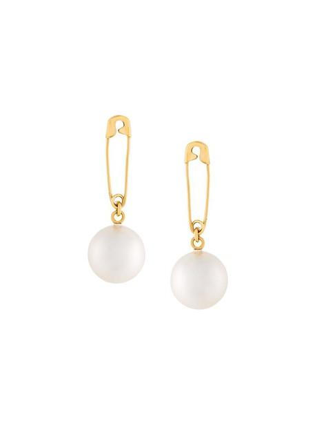 Wouters & Hendrix pearl earrings women pearl earrings gold silver grey metallic jewels