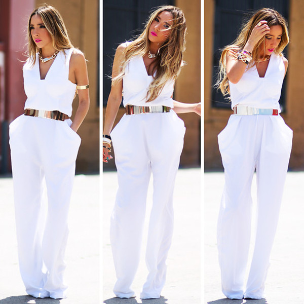 pants clothes white romper