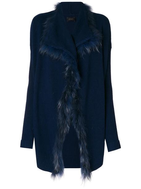 LIU JO cardigan cardigan fur women blue sweater
