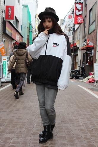 jacket windbreaker nike air nike jacket black and white