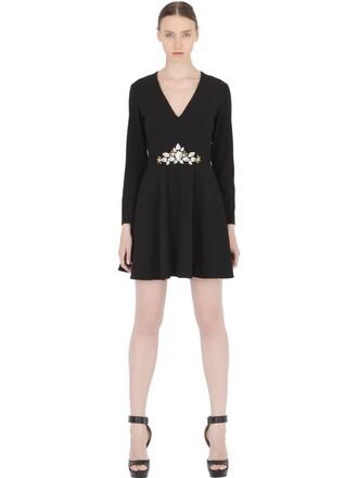 dress long sleeve dress long embellished black