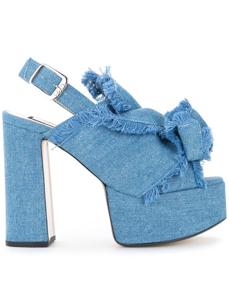 denim women sandals platform sandals leather cotton blue shoes