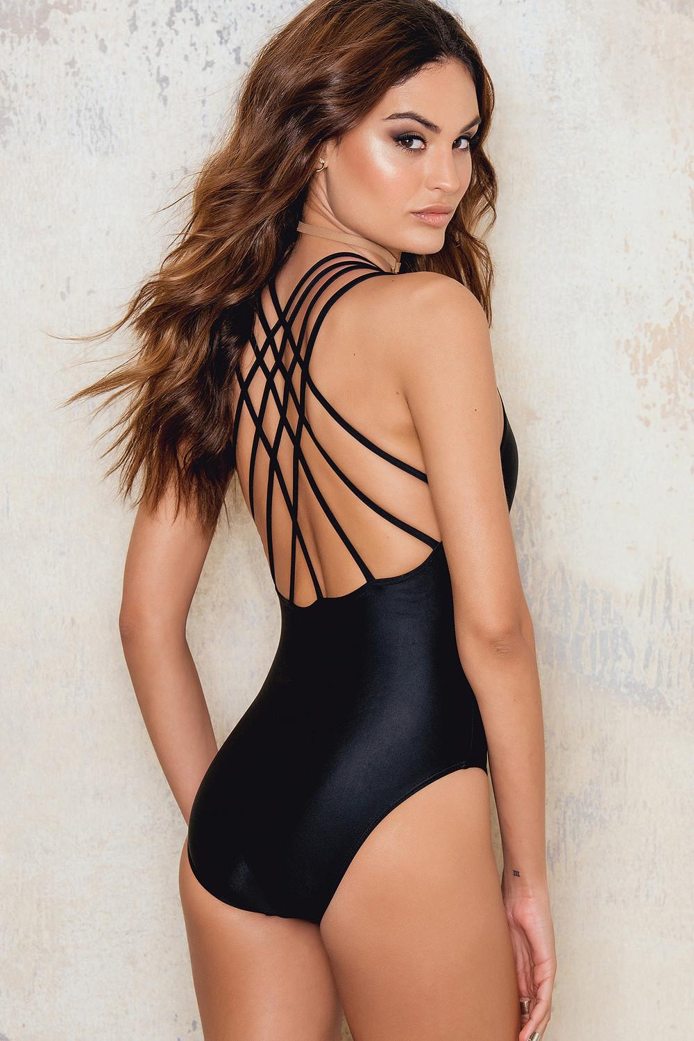 Hot Anatomy Strap Swimsuit