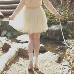 Waist tulle skirt
