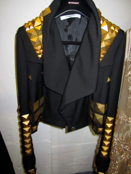 givenchy jacket gold