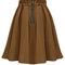 Stylish elegant women high waist pleated solid knee length skirt - newchic