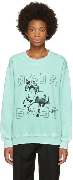 Baja East sweatshirt green sweater
