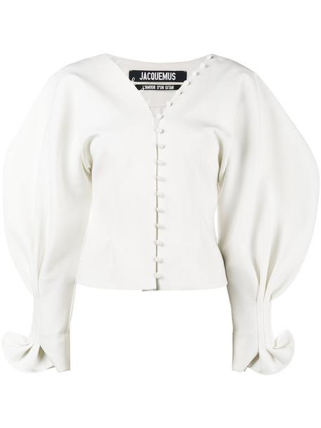 Jacquemus blouse women spandex nude wool top