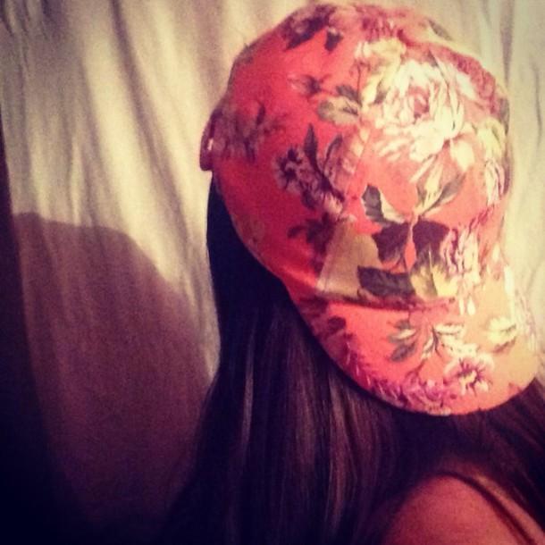 hat baseball cap floral summer forever 21