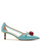 Unia cherry-embellished leather pumps