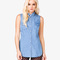 Sleeveless chambray shirt | forever21 - 2031557344