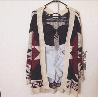 tank top indie sweater jewels blouse shorts tribal cardigan shirt black bralette cardigan cute jacket iwantthissobad style indian print