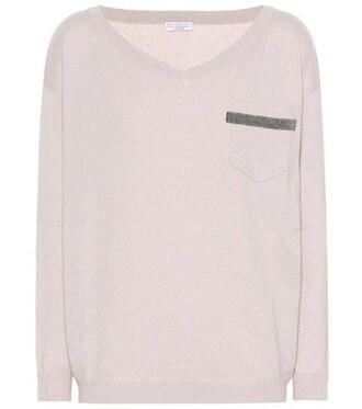 sweater embellished pink