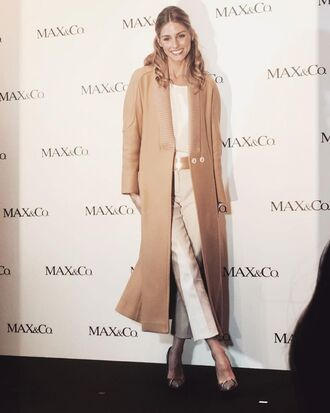 coat pants camel olivia palermo fall outfits top