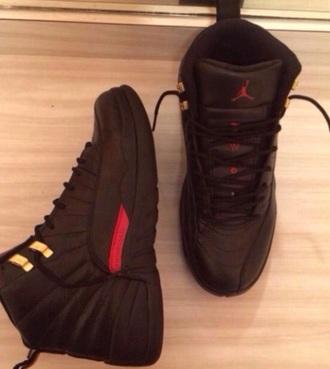 shoes jordans js black sneakers trainers