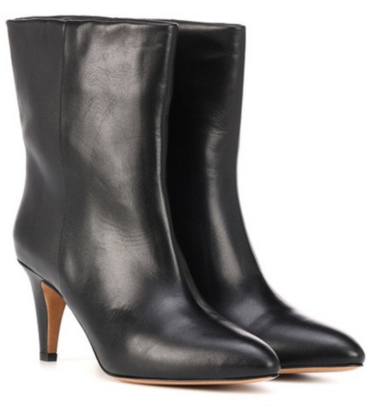 Isabel Marant Dailan leather ankle boots in black