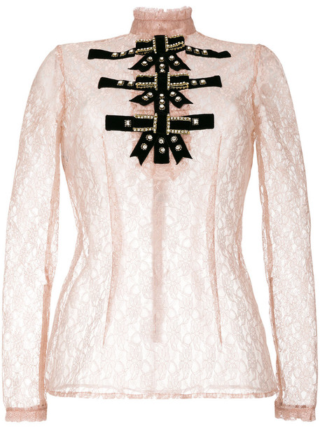 Philosophy di Lorenzo Serafini blouse women lace purple pink top