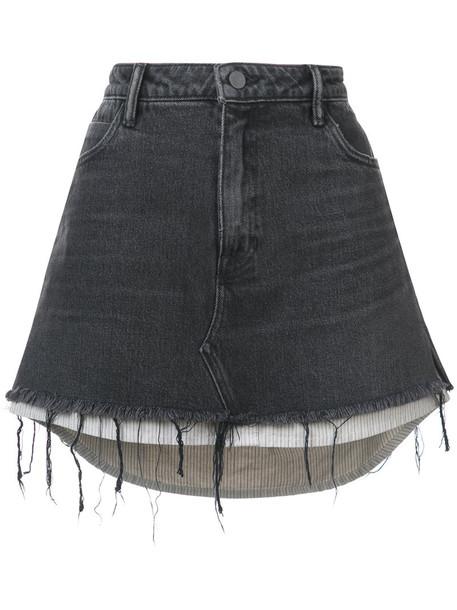 Alexander Wang skirt mini skirt denim mini women cotton black