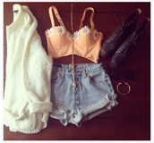 tank top,shorts,jacket,sweater,flowers,corset top,bustier,jewels,shirt,pink,pink bra,peach bralette,bikini,swimwear,summer,clothes,crop tops,bralette,daisy,peach,hipster,cute,orange,floral,indie,hippie,white,white top,high waisted,boots,combat,jumper,bandeau,bralet top corset bra,coat,cardi,orange top flowers short sweet summer,t-shirt,blouse,shoes,pants,ripped jeans,vintage,spring,bloom,girly,crop tank,top,blümchen,spring clothes,coral,pale orange,white daisy,cardigan,flower shirt,bra,included,cropped,cleavage,straps,brallete,crop,summer top,daisy crrop top