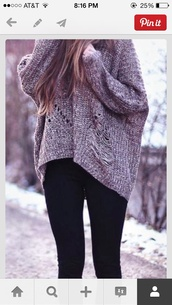 sweater,clothes,loose sweater,vintage,grunge,grey,indie,loose fit sweater,winter sweater,winter outfits,ripped sweater,fashion,socks,jacket,grey sweater,cosy sweaters