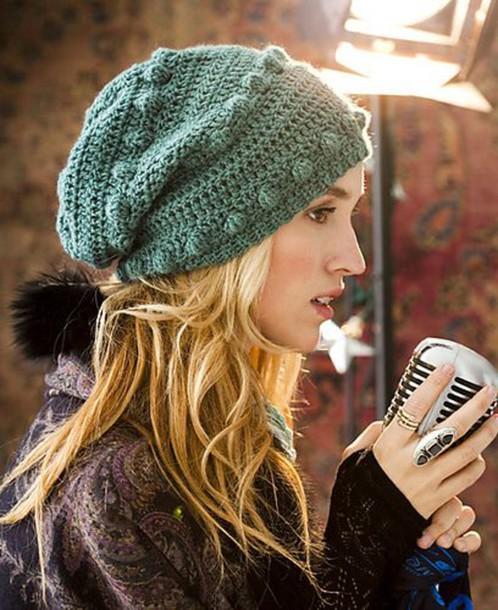knitwear knitted beanie knitted beanie boho hippie beanie forest green d26a30e318d