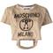 Moschino - bag handle t-shirt - women - cotton - xxs, nude/neutrals, cotton