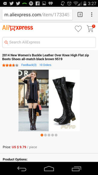 black boots ruffels high heels knee high boots lether boots