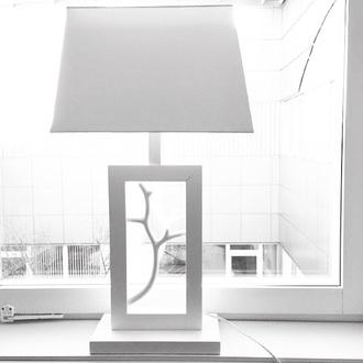 home accessory lamp designer white tree branch horn square rectangle