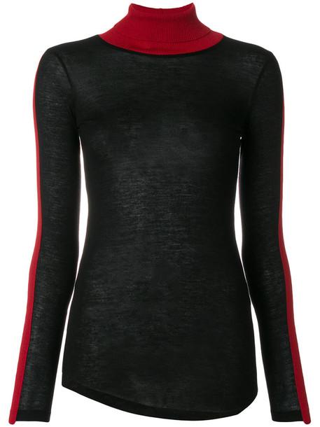 top long women black wool