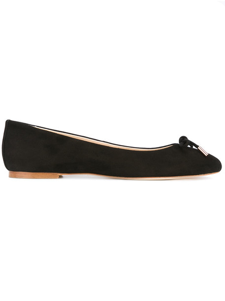 ANNA BAIGUERA bow women leather suede black shoes