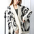 Free Shipping Loose Geometry Pattern Long Sleeve Knitting Wool Cardigans on Luulla
