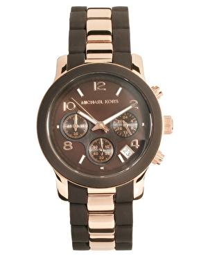 michael kors michael kors chronographen armbanduhr in. Black Bedroom Furniture Sets. Home Design Ideas