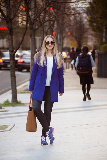 my blonde gal shoes bag jeans jewels coat sunglasses sweater