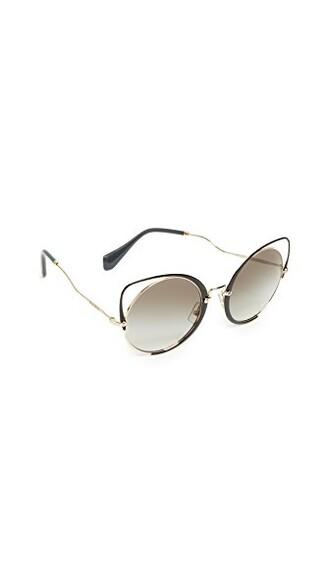 sunglasses pale gold black grey