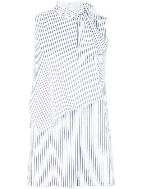 shirt women draped white cotton top