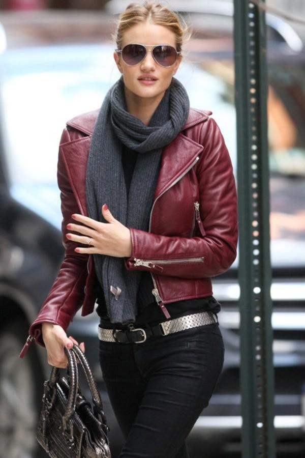 DIESEL Burgundy Marlene Leather Jacket / TheFashionMRKT