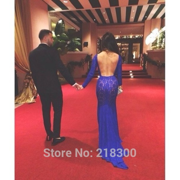 Aliexpress.com : buy red long sleeves mermaid lace backless prom dresses open back boat neck celebrity dresses from reliable dress for less prom dresses suppliers on mypromdresses