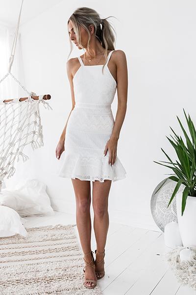 Shona Dress (White)