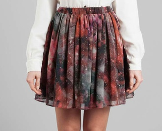 skirt galaxy print galaxy skirt