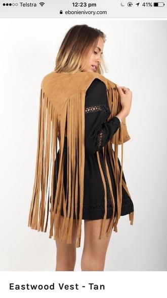 jacket tassel vest