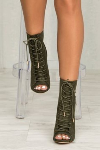 83e4f7a427a shoes olive green strappy heels heels strappy