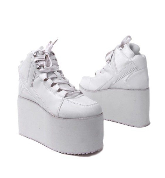 shoes high top platform shoes