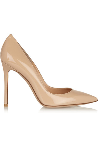 pumps leather neutral shoes