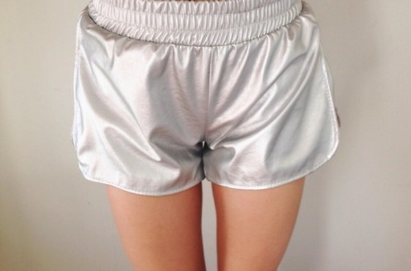 shorts silver sexy